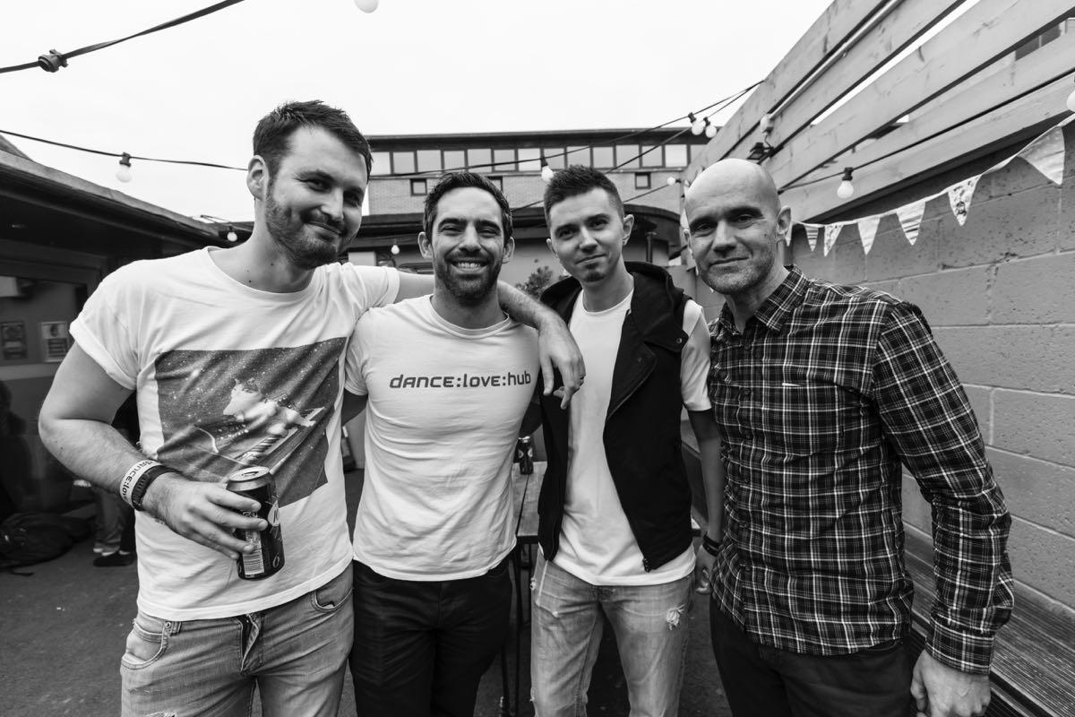 JOOF-тим слева-направо: Адам Томас, Джон Кокл, я и Джон Флеминг